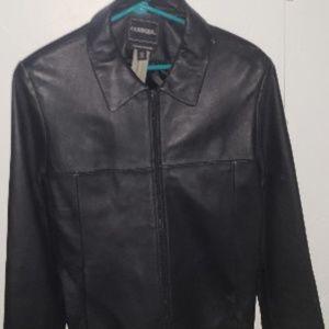 Outbrook LAMBSKIN leather Jacket Sz L Womens